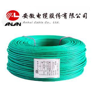 安缆 绿色ZC-BV6平方国标铜芯阻燃电线 100米