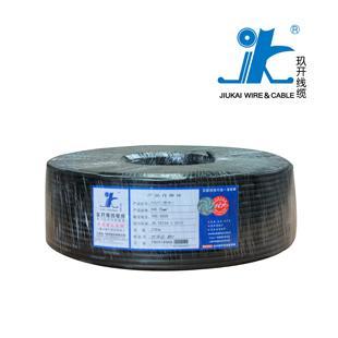 上海玖开黑色RVV2*1.5国标足米铜芯电线100米