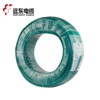 远东电缆绿色BVR6平方国标家装进户铜芯电线单芯多股软线 100米