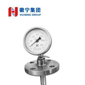 安徽徽宁双金属温度计WSS-484量程(℃)0~600 DN25 PN16/304  L=600mm   可定制