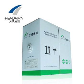 浙江汉维通信(HSYV-FTP-6)单屏蔽六类双绞网线 4对8芯无氧铜305米