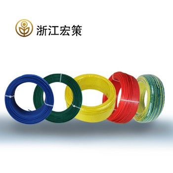 浙江宏策电缆红色BV6平方国标铜芯线100米
