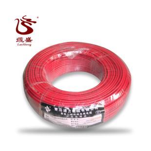 青岛通力电线红色 BV-4平方 国标正品 家装单股硬线铜芯线 包邮