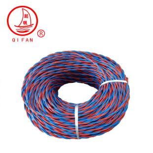 起帆电线红蓝 RVS2*0.5 双绞线 灯头线 家装国标电源花线铜芯软线 100米