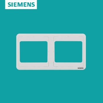 西门子开关插座面板 远景白系列 双联边框