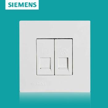 西门子开关插座面板 灵致白系列 电话电脑插座