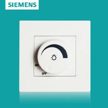西门子开关插座面板  灵致白系列 调光开关
