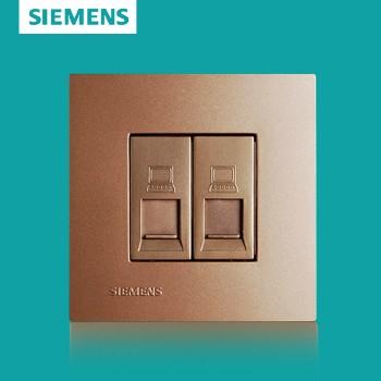西门子开关插座面板 灵致金系列 双电脑插座