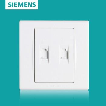 西门子开关插座面板 品宜系列 双电话插座