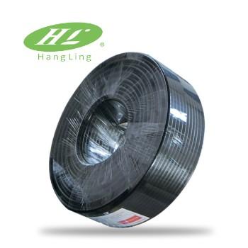 临安灵通SYWV-75-5监控线黑色 带电源线钢包铜