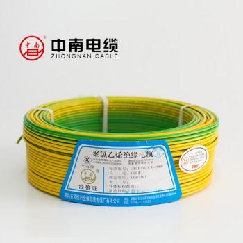 富达电线电缆黄绿色 BVR6平方国标铜芯电线100米