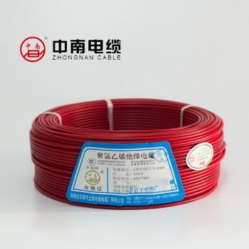 富达电线电缆红色 BVR6平方国标铜芯电线100米