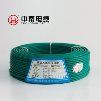 富达电线电缆绿色 BVR6平方国标铜芯电线100米
