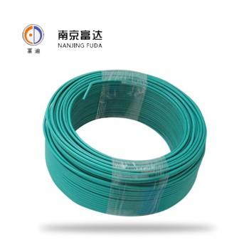 富达电线电缆绿色 BV4平方国标铜芯电线100米