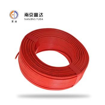 富达电线电缆黄色 BV10平方国标铜芯电线100米