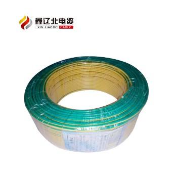 鑫辽北电线电缆黄绿色 ZR-BV4平方国标铜芯电线95米