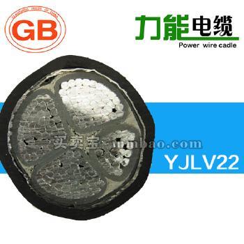 河北力能0.6/1kV YJLV22铝芯交联聚乙烯绝缘双钢带铠装聚氯乙烯护套电力电缆 3*25+2*16