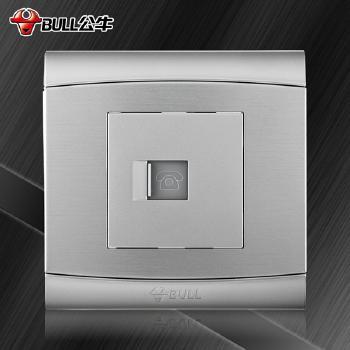 公牛插座 G19系列 电话插座 (太空银)