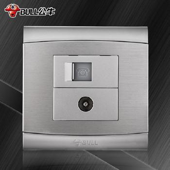 公牛插座 G19系列 电话电视插座 (太空银)