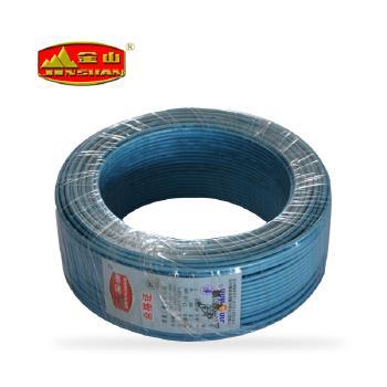天津金山电线蓝色 BV4平方铜芯国标电线100米