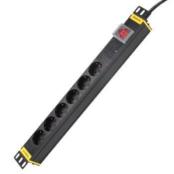 Gowone购旺 PDU机柜插座德标/法标电源插排工业插线板10A/16A欧式通用插头