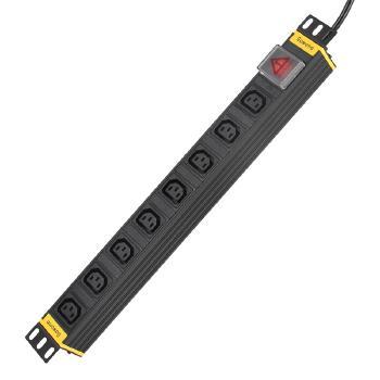 Gowone购旺 PDU机柜插座IEC标准插排接线板铝合金1U总控开关