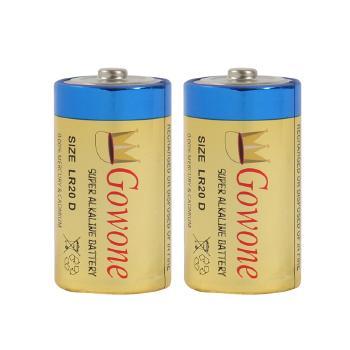 Gowone购旺 无汞环保碱性电池出口简装 大号电池 LR20 热水器燃气灶手电筒电池