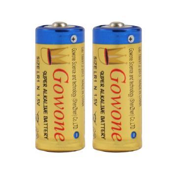 Gowone购旺 无汞环保碱性电池出口简装 8号电池 LR1 转经轮激光笔电子产品电池