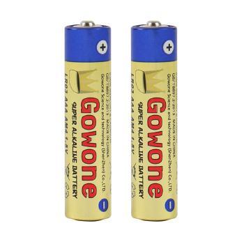 Gowone购旺 无汞环保碱性电池出口简装 7号 AAA LR03 血糖仪电动玩具电池