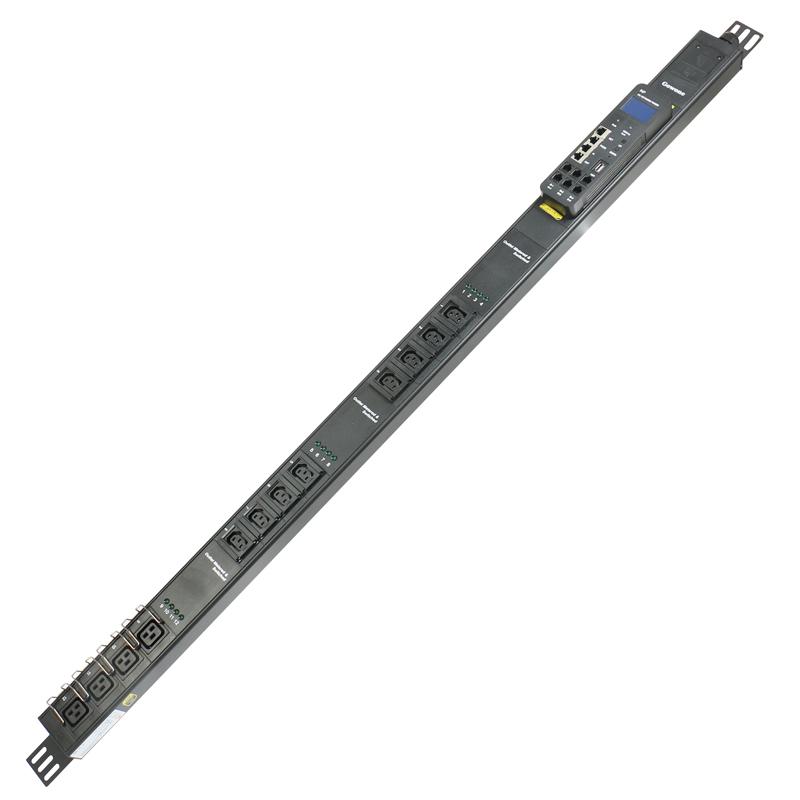 Gowone购旺 智能PDU滤波机柜插座 32A工业插排 电流电压采集器 监测报警接线板C13/C19组合/INP远程逐位监测管理/防火墙 GZ03