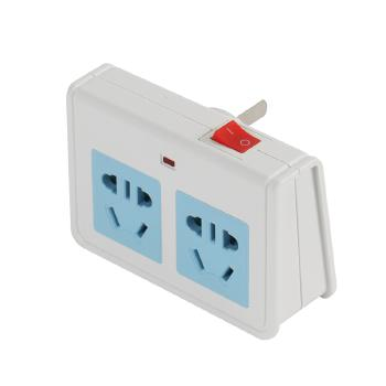 Gowone购旺  电源转换器 便携旅行插座 墙面电源拓展插排 三相插头带开关 Z02  一转二总控开关