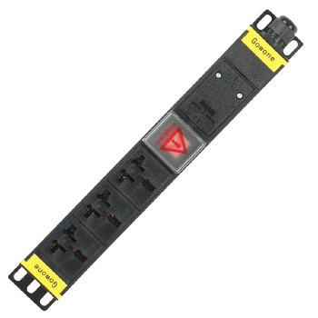Gowone购旺 PDU机柜插座   工业插排  非常规接线板 工程插座 配线自接 3位 16A万用孔 WD3 3米  国标10A插头