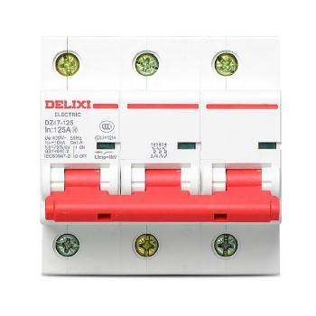 德力西电气 微型断路器(小型断路器);DZ47-125 3P li(D) 100A