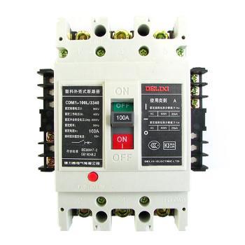 德力西电气 塑壳式断路器;CDM1-100L/3340 100A AC220V