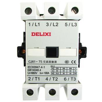 德力西电气 低压接触器;CJX1-75/22 50Hz 24V