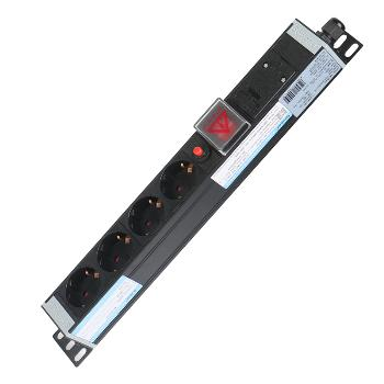 Gowone购旺PDU机柜插座 工业插排 工程接线板 出国电源转换插座 多用孔选配插头 4位 过载保护 欧式德标插孔 DZ5 无线