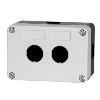 德力西電氣 防濺盒;LAY5s-HZ 2孔白面蓋(按鈕盒)