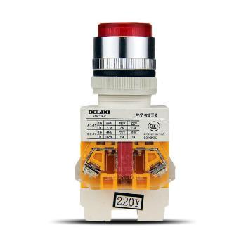 德力西电气 按钮开关;LAY7-11D 24V LED 红