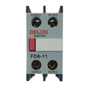 德力西电气 低压接触器;FD6-11 顶辅助触头