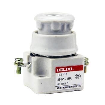 德力西电气 低压熔断器;RL1-15 座
