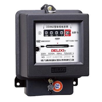 德力西电气 电能仪表;DD862 220V 15(60)A
