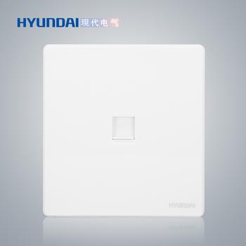 现代电气 开关插座面板 E50珍珠白系列 一位电脑插座