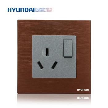 现代电气  K70系列 一开单控16A三极插座