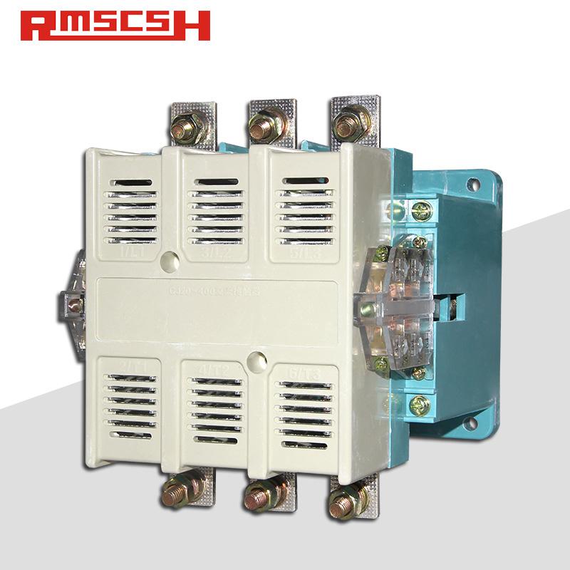 人民电气 CJ20-250A/400A单相三相380V交流接触器36V 110V 220V银触点
