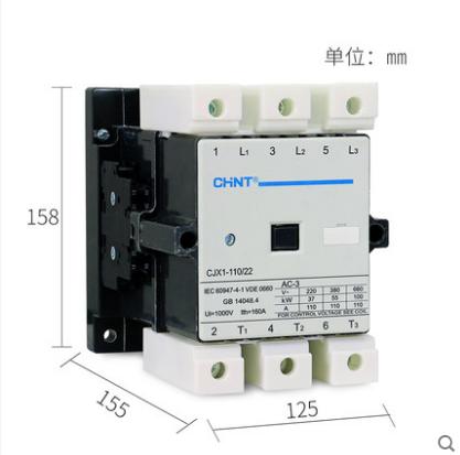正泰交流接触器 CJX1-110/22  线圈电压(控制电压) AC24V、36V、48V、220V、380V