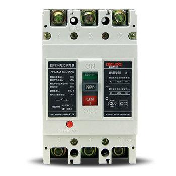 德力西 CDM1-100L/3300 100A 塑壳配电保护 1箱(16个)
