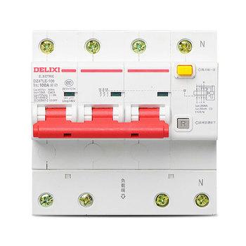 德力西电气 微型断路器(小型断路器);DZ47LE-125 3P+N li(D) 100A