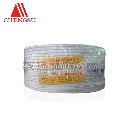 成塑电缆 RVV平方国标3芯铜芯软护套线