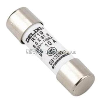 德力西电气 圆柱形熔断器;RT19 4A Φ8.5X31.5