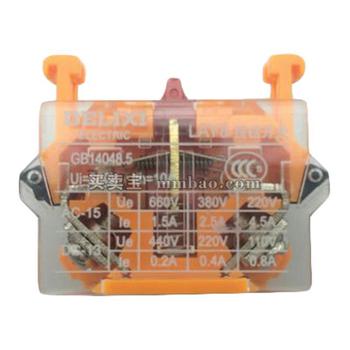 德力西电气 按钮指示装置附件;顶方底圆一体化标牌